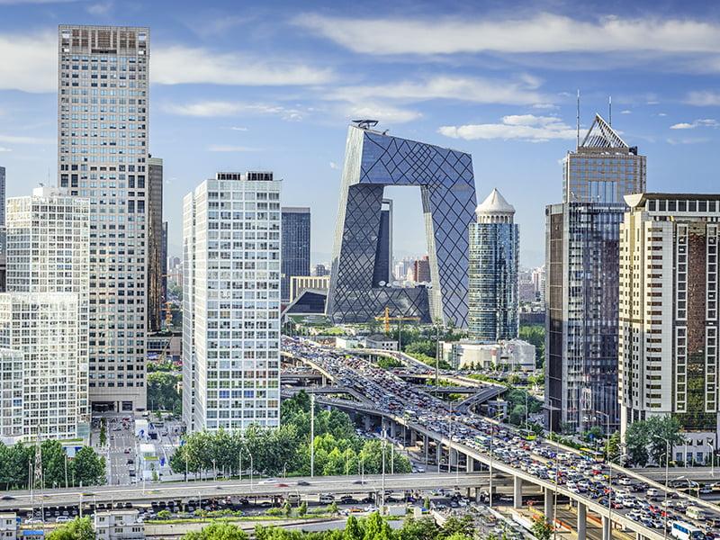 Beijing city day China