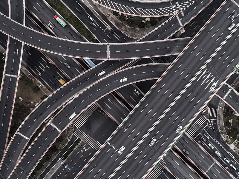 roads interchange connections