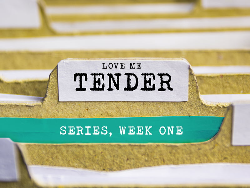 Love me tender, series, week one, week 1