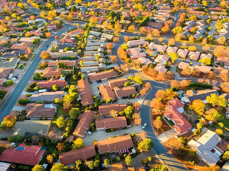 suburbs city