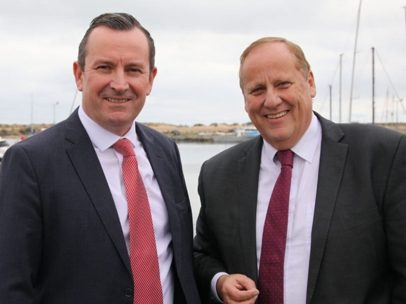 Mark McGowan and Don Punch